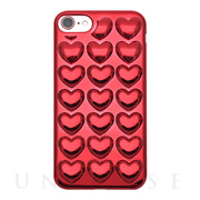 【iPhone8/7/6s/6 ケース】HOLIC CASE Metallic Heart (Red)