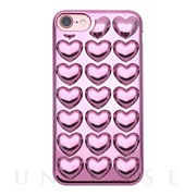 【iPhone8/7/6s/6 ケース】HOLIC CASE Metallic Heart (Pink)