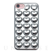【iPhone8/7/6s/6 ケース】HOLIC CASE Metallic Heart (Silver)