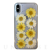 【iPhoneXS/X ケース】Oshibana CASE (Yellow)