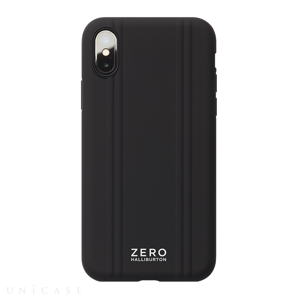 【iPhoneXS ケース】ZERO HALLIBURTON Hybrid Shockproof case for iPhoneXS (Black)