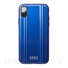 【iPhoneXS ケース】ZERO HALLIBURTON Hybrid Shockproof case for iPhoneXS (Blue)