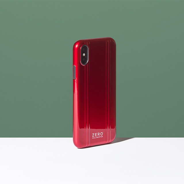 【iPhoneXS ケース】ZERO HALLIBURTON Hybrid Shockproof case for iPhoneXS (Red)goods_nameサブ画像