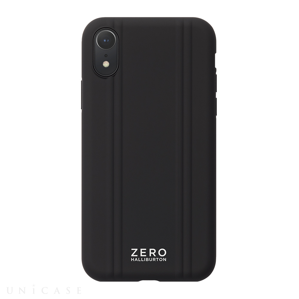 【iPhoneXR ケース】ZERO HALLIBURTON Hybrid Shockproof case for iPhoneXR (Black)
