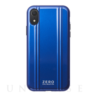 ZERO HALLIBURTON(ゼロハリバートン) 【iPhoneXR ケース】ZERO HALLIBURTON Hybrid Shockproof case for iPhoneXR (Blue)