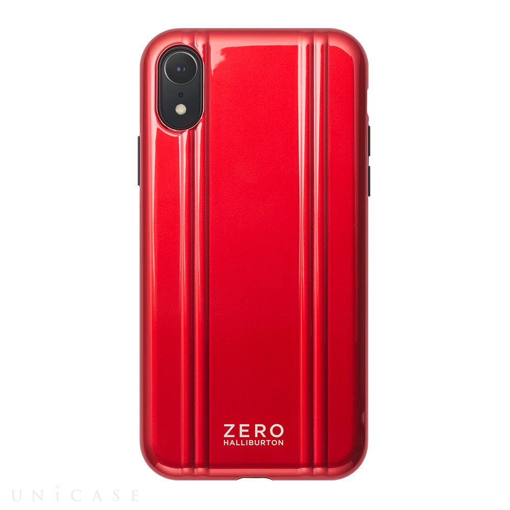 【iPhoneXR ケース】ZERO HALLIBURTON Hybrid Shockproof case for iPhoneXR (Red)