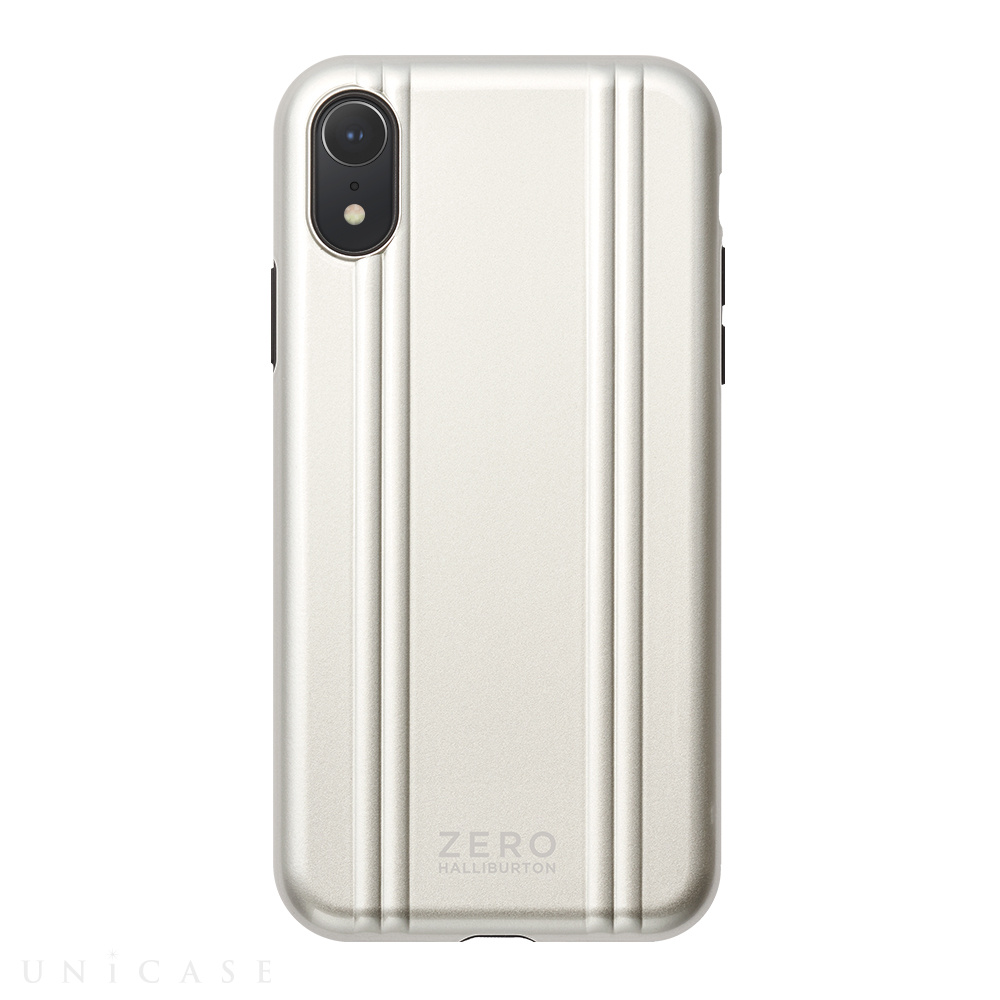 【iPhoneXR ケース】ZERO HALLIBURTON Hybrid Shockproof case for iPhoneXR (Silver)