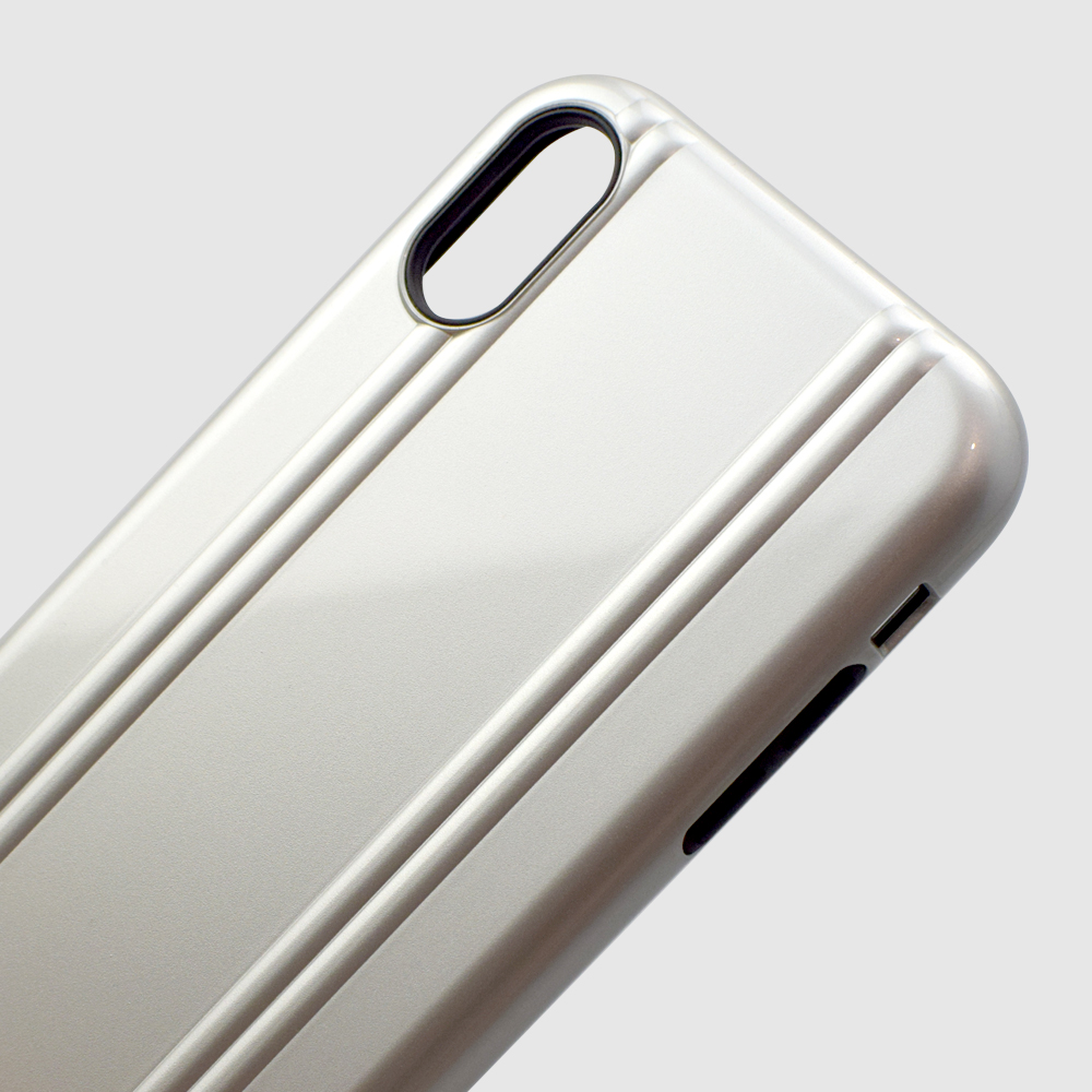 【iPhoneXR ケース】ZERO HALLIBURTON Hybrid Shockproof case for iPhoneXR (Silver)サブ画像