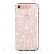 【iPhone8/7 ケース】Soft Lighting Clear Case Flower (ローズゴールド)