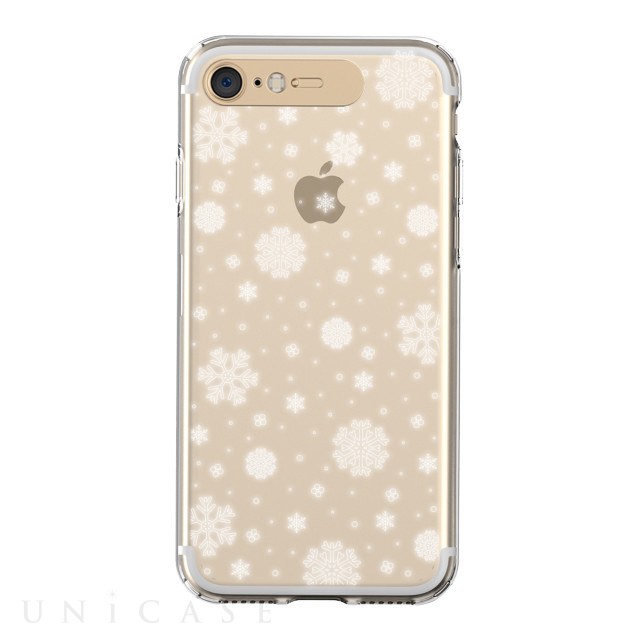 【iPhone8/7 ケース】Soft Lighting Clear Case Snow (ゴールド)