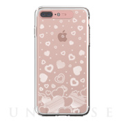 【iPhone8 Plus/7 Plus ケース】Soft Lighting Clear Case Heart (ローズゴールド)