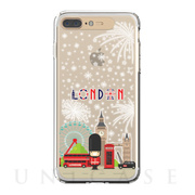 【iPhone8 Plus/7 Plus ケース】Soft Lighting Clear Case Landmark London (ゴールド)