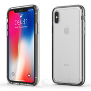 【iPhoneXS/X ケース】ACHROME SHIELD Premium CASE (クロームシルバー)
