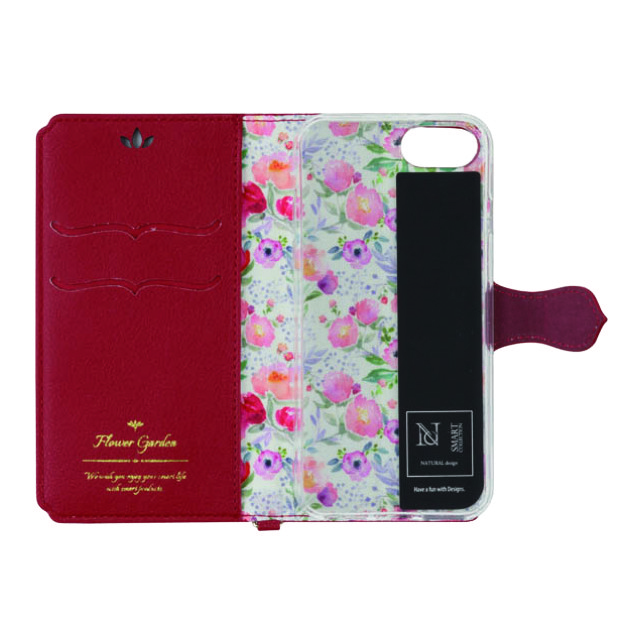 【iPhone8/7/6s/6 ケース】手帳型ケース Flower Garden (Red)goods_nameサブ画像
