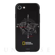 【iPhone8/7 ケース】Compass Case Double Protective (ブラック)
