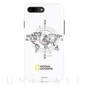 【iPhone8 Plus/7 Plus ケース】Compass Case Double Protective (ホワイト)