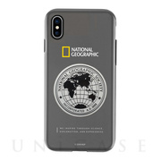 【iPhoneXS/X ケース】Global Seal Metal-Deco Case (グレー)