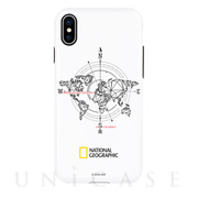 【iPhoneXS/X ケース】Compass Case Double Protective (ホワイト)