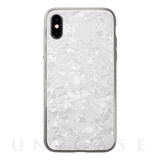 【iPhoneXS/X ケース】Glass Shell Case for iPhoneXS/X (White)