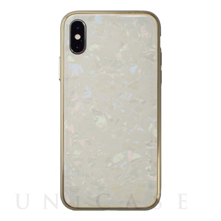 【iPhoneXS/X ケース】Glass Shell Case for iPhoneXS/X (Gold)