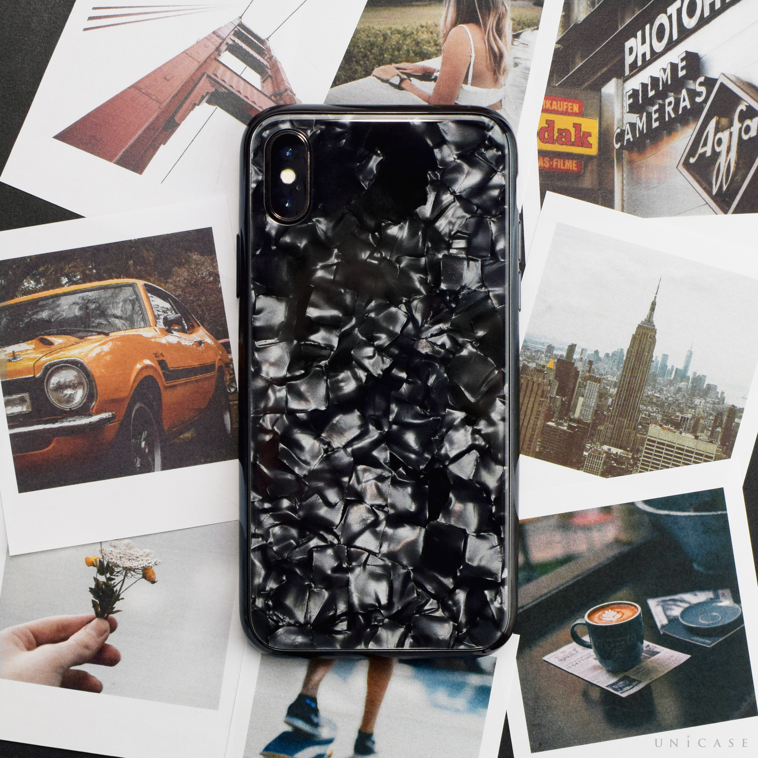 【iPhoneXR ケース】Glass Shell Case for iPhoneXR (Black)サブ画像