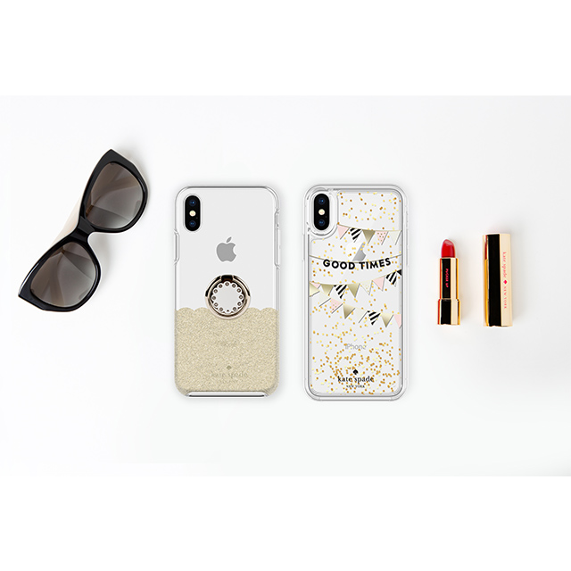 【iPhoneXS/X ケース】BUNDLE -GOLD SCALLOP scallop gold glitter/clear/cream scallop gold ringサブ画像