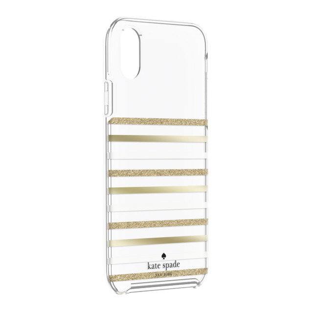 【iPhoneXR ケース】Protective Hardshell -FEEDER STRIPE gold/gold glitter/cream/clear