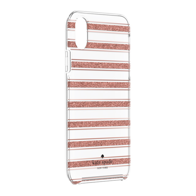 【iPhoneXR ケース】Protective Hardshell -BOLD STRIPE rose gold glitter/rose gold foil/cleargoods_nameサブ画像