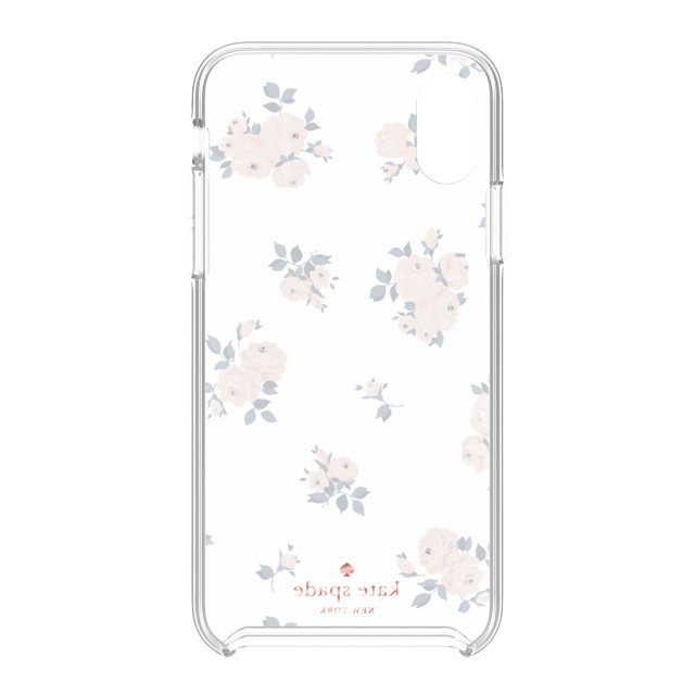 【iPhoneXR ケース】Protective Hardshell -HAPPY ROSE navy/pink /crystal gems/rose gold/gold/clearサブ画像