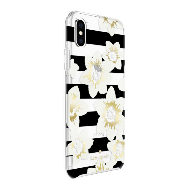 【iPhoneXS/X ケース】Protective Hardshell -GARDEN BLOOM black/cream/gold/crystal gems/clearサブ画像