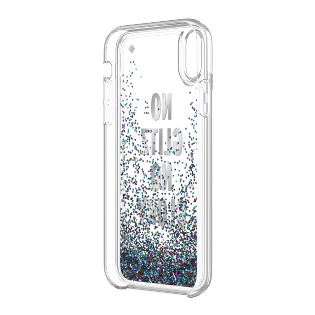 【iPhoneXR ケース】Liquid Glitter -NO GLITZ NO GLORY silver foil/mermaid glitter/clearサブ画像