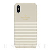 【iPhoneXS/X ケース】Protective Hardshell -FEEDER STRIPE clocktower/cream/gold