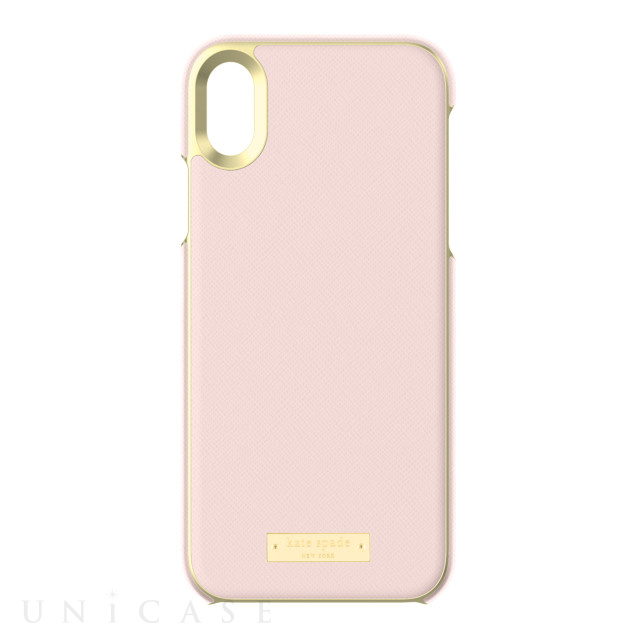 【iPhoneXR ケース】INLAY WRAP -SAFFIANO rose quartz