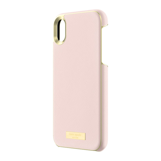 【iPhoneXR ケース】INLAY WRAP -SAFFIANO rose quartzサブ画像