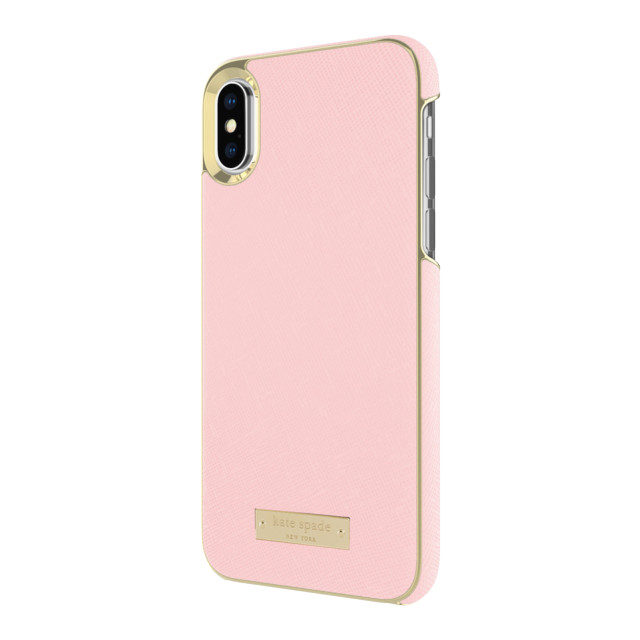 【iPhoneXS/X ケース】INLAY WRAP -SAFFIANO rose quartzサブ画像