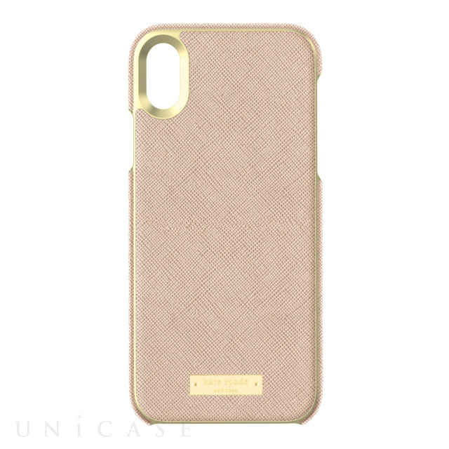 【iPhoneXR ケース】INLAY WRAP -SAFFIANO rose gold