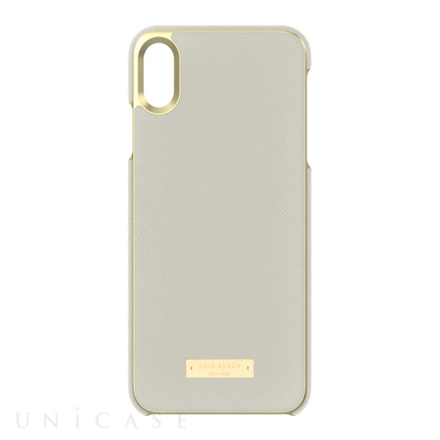 【iPhoneXS Max ケース】INLAY WRAP -SAFFIANO clocktower