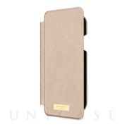【iPhoneXR ケース】INLAY WRAP FOLIO -SAFFIANO rose gold