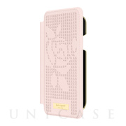 【iPhoneXR ケース】INLAY WRAP FOLIO -ROSE PERF rose quartz