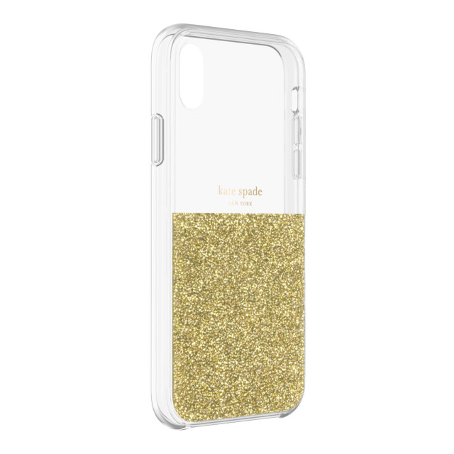 【iPhoneXR ケース】HALF CLEAR CRYSTAL -GOLD/gold foil/clearサブ画像
