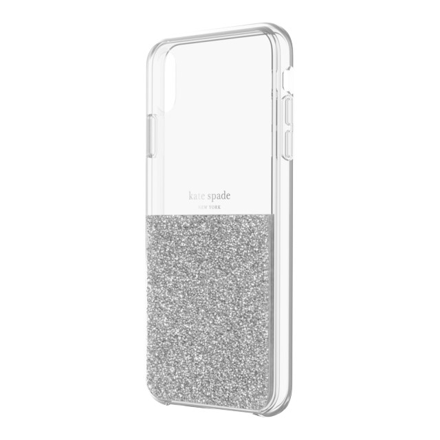 【iPhoneXS Max ケース】HALF CLEAR CRYSTAL -SILVER/silver foil/clearサブ画像