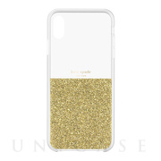 【iPhoneXS Max ケース】HALF CLEAR CRYSTAL -GOLD/gold foil/clear