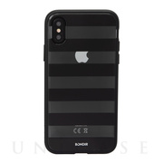 【iPhoneXS/X ケース】CLEAR COAT (BLACK STRIPE)