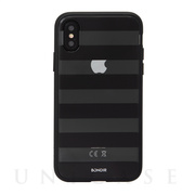 【iPhoneXS Max ケース】CLEAR COAT (BLACK STRIPE)