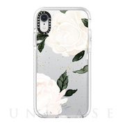 【iPhoneXR ケース】Impact Case (Floral White Rose)/White Bumper