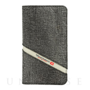 【iPhoneXS/X ケース】2-IN-1 FOLIO CASE (Grey Denim Diagonal Logo)