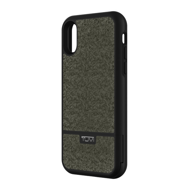 【iPhoneXS/X ケース】KICKSTAND CARD CASE (Pewter Coated Canvas)サブ画像