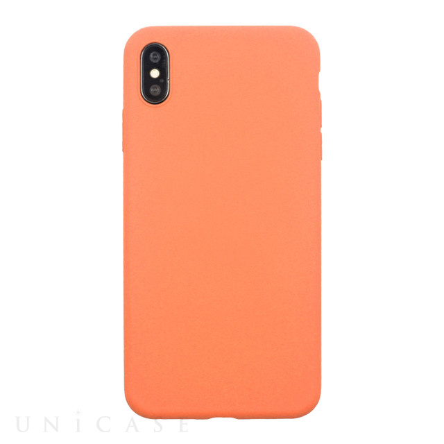 【iPhoneXS/X ケース】EXTRA SLIM SILICONE CASE (Peach)