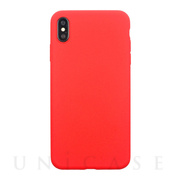 【iPhoneXS/X ケース】EXTRA SLIM SILICONE CASE (Red)