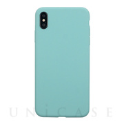 【iPhoneXS/X ケース】EXTRA SLIM SILICONE CASE (Sea Blue)